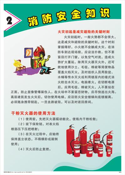 消防安全知识-火灾初起是减灾避险的关键时刻消防标语海报挂图
