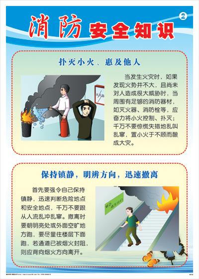 消防安全知识-扑灭小火,惠及他人消防标语海报挂图