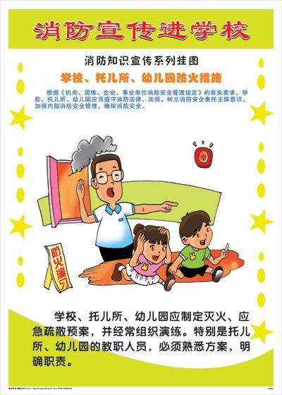 儿童安全宣传简笔画